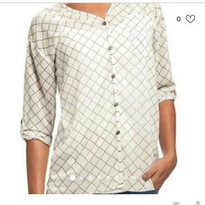 Cabi Sheer Blouse -like new!